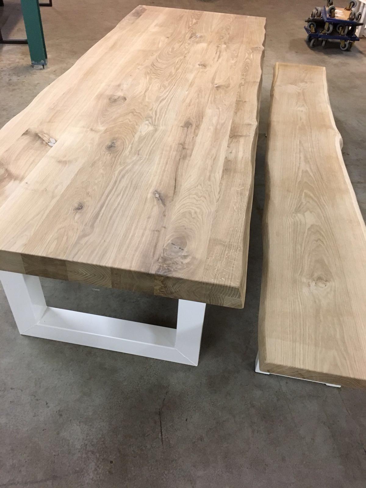 Verwonderlijk Eikenhouten tafel met boomkant rustiek - MVD-Trendymeubels ZZ-65